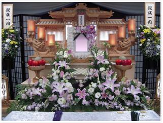 2段式花祭壇(家族葬向き)プラン